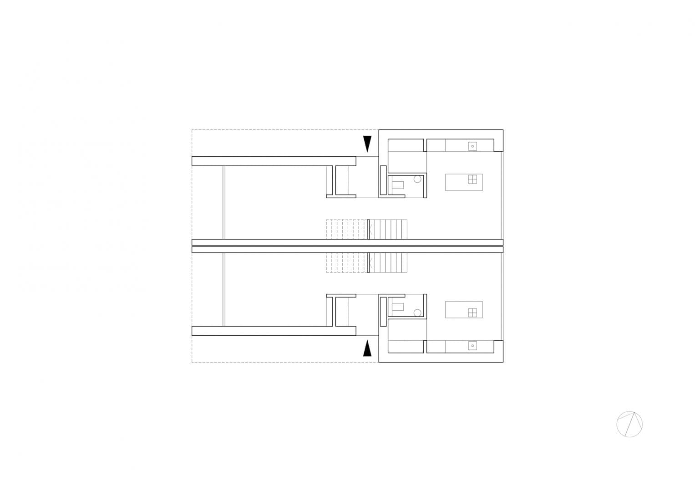 Rzut Parteru - Budynki C i D