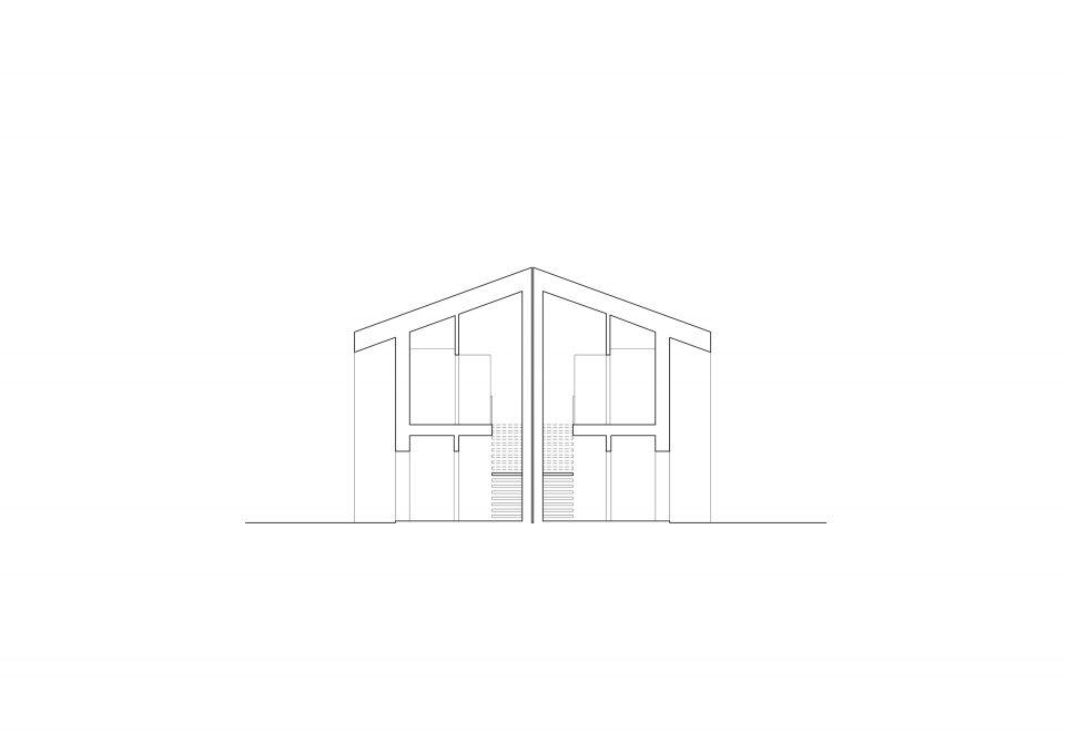 Przekrój - Budynki C i D