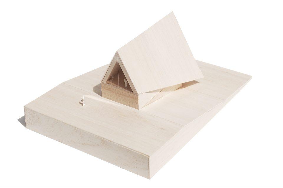 Model pojedyńczego budynku - widok od strony południowej